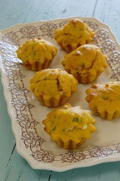 Cinco Quartos de Laranja: Queques de batata-doce com bacon e queijo feta