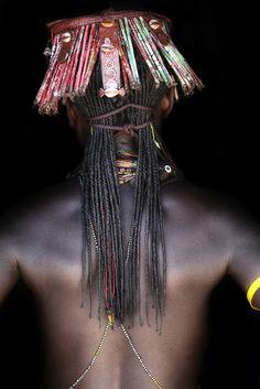 African Hair Style ( Kapapo headdress, Mucawana tribe of Angola) by abgefahren2004, via Flickr