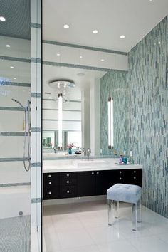 modern tile on wall/soft color