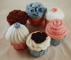 Felt Food - Bugga Bugs Cupcakes (All) (Pattern) | Flickr - Photo Sharing!
