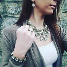 Beautiful. Torsade w/ a side of Retro Glam from www.jodijaxjewelry.com Buy this set now & get $50 in free jewelry credit thru the 31st!  Perfect for prom or graduation!! #jodijax #jodijaxjewelry #promjewelry #gradgift #prom2k16 #chloeandisabel