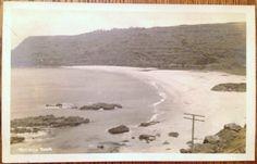 VINTAGE POSTCARD- 1930's Waimea Beach North Shore Oahu Big Wave Surfing TH Hawaii AZO RPPC | eBay
