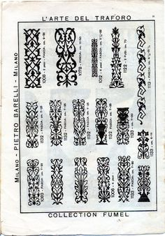 Ettore Ferrari fretwork patterns catalogue - Căutare Google