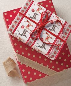 Deer & Snowflakes Glitter Gift Wrap | $6.99. Like this paper
