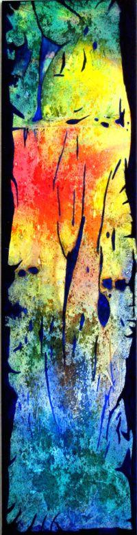 """Spirit of Nature"" Acrylic on canvas 18"" x  46"""
