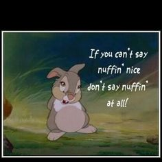 Thumper's words to live by