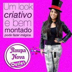 Use sua criatividade para montar seu look na Roupa Nova Outlet, gastando muito pouco. #RoupaNova #PreçoBaixo #Moda