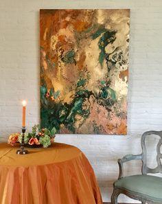 """ TREASURE HUNT "" Series Abstract artwork # orange # decoration # orange"