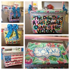 HandPainted Coolers by SratSoHard on Etsy