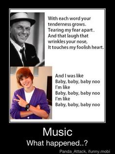 Frank Sinatra and Justin Beiber shouldn't be in the same category. There is NO comparisson!