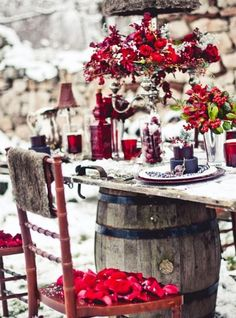 Winter wine wedding
