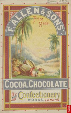 1880 Advert For F. Allen & Sons Cocoa Chocolate