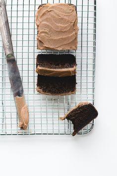 """Chocolate"" Carob Bread with Date Caramel Frosting {paleo, gluten-free}"