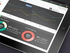 Flat UI info graphic Dasboard
