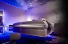 floating bed in hotel room at One by the five in Paris
