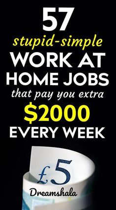 57 stupid-simple work at home jobs Cash From Home, Earn Money From Home, Earn Money Online, Online Jobs, Online Earning, Work From Home Companies, Work From Home Opportunities, Career Options, Legit Work From Home