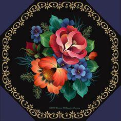 Seminars 2013 - Maureen McNaughton Arts Inc. Decoupage, Tole Painting Patterns, Pintura Country, Floral Artwork, Arte Popular, China Painting, Illustrations, Fabric Painting, Art Techniques