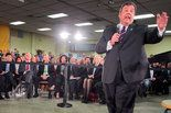 Gov. Chris Christie focused on Hurricane Sandy recovery at his 110th town hall meeting in the Port Monmouth section of Middletown