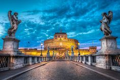 Path Of Angels - (Rome, Italy) by blame_the_monkey, via Flickr