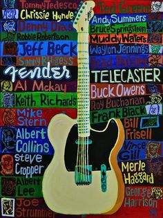 Guitar Art, Telecaster Tribute, theres also jeff buckley, but hey Im not mad bro