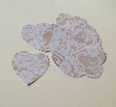Card Heart Shapes,Large Scalloped Hearts,Lace Print,30pk £1.50