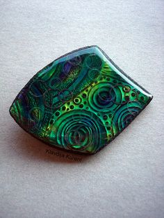 Go with the flow...liquid Kato polymer clay brooch | Flickr - Photo Sharing!