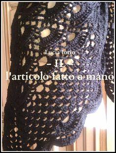 scialle nero di lana