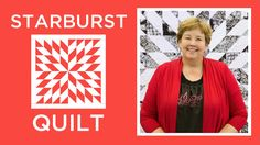 Click here to get supplies: http://bit.ly/starburstquilt Jenny shows us how to make The Starburst Quilt using yardage and 10 inch squares of precut fabric (l...