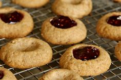 Whole Wheat Raspberry Almond Thumbprint Cookies Recipe - Pinch My Salt