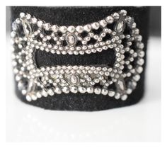 Boho leather cuff/ antique marcasite buckle/ shoe buckle/ black leather/ art deco buckle/ shabby chic bracelet/shabby chic jewelry/ sundance