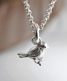 Another great find on #zulily! Sterling Silver Little Bird Pendant Necklace by Martha Jackson #zulilyfinds