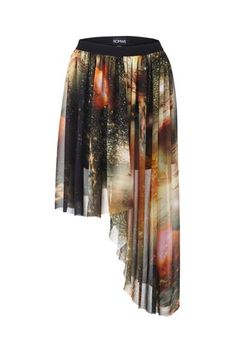 Shop Mysterious Universe Asymmetric Skirt at ROMWE, discover more fashion styles online. Brown Skirts, Short Skirts, Galaxy Skirt, Mysterious Universe, Elastic Waist Skirt, Fashion For Women Over 40, Asymmetrical Skirt, Latest Street Fashion, Online Dress Shopping