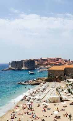 Banje Beach, Dubrovnik. Perfect place for a swim! #swim #relax #croatia #got #dubrovnik
