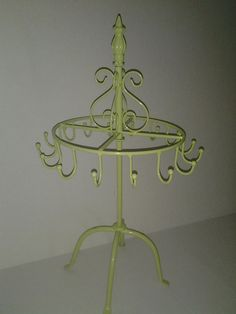 Lime Green Paris wrought iron jewelry display, craft