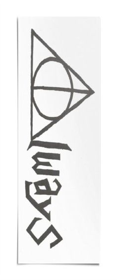 "Bookmark made of heavy card-stock, decorated on both sides. Bookmark decorated with a drawing of a Harry Potter's glasses and scar on one side, and the Deathly Hallows with the word ""Always"" on the ot"
