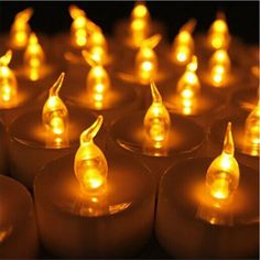 Pack Of 12 Orange Flameless Candles Bulk Electric Bougie D'anniversaire Yellow Flicker Battery Candles Chandelles For Birthday Battery Candles, Mini Candles, Flameless Candles, Pillar Candles, Flickering Lights, Led Tea Lights, String Lights, Christmas Candles, Christmas Lights