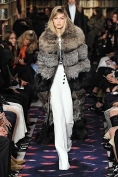 At Sonia Rykiel, Gigi Channeled Sophisticated Glamour