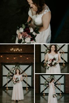 Modern industrial elopement at 52 North Venue. This bride wore a blush pink wedding dress for her modern elopement. Blush Pink Wedding Dress, Blush Pink Weddings, Wedding Dresses, Industrial Wedding, Modern Industrial, Wedding Songs, Bride Bouquets, Plan Your Wedding, Wedding Vendors