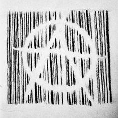Anarchy v for vendetta barcode tattoo design concept