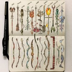 Official Post from Picolo: At last!<br>As I'm going to upload the zodiac archers I thought it would be cool to put bows and arrows side to side!<br>Which one is your favorite?<br> wand The Zodiac Bows and Arrows Zodiac Art, Zodiac Signs, Art Sketches, Art Drawings, Sketch Drawing, Drawing Art, Arrow Drawing, Gabriel Picolo, Zodiac Tattoos