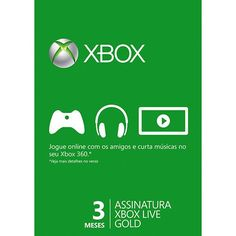 Live Card Microsoft Gold 3 meses XBOX 360