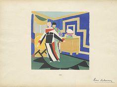 "Reference Code: US.NNFIT.SC.N6853.D34 L56.2 Date of Original: 1923  Source: Plates from portfolio ""Sonia Delaunay; ses peintures, ses objets, ses tissus simultanés, ses modes"""