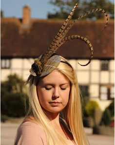 Harris Tweed & Pheasant Feather Fascinator