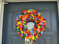 Love this Wreath Idea for a birthday instead of balloons on the mailbox!