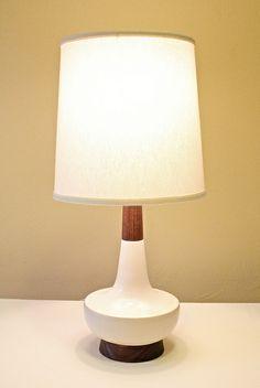 Shannon Guirl's beautiful PDX-made lamps // walnut + stoneware