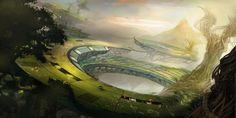 sci fi fantasy landscape   Sci Fi Landscape Wallpaper/Background 1920 x 960 - Id: 151181 ...