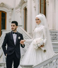 Image may contain: 2 people, wedding - # wedding # Image of # . inspiration hijab Image may contain: 2 people, wedding - # wedding # Image of # . Turkish Wedding Dress, Muslim Wedding Gown, Hijabi Wedding, Wedding Hijab Styles, Muslimah Wedding Dress, Muslim Wedding Dresses, Wedding Dresses Photos, Dream Wedding Dresses, Wedding Gowns