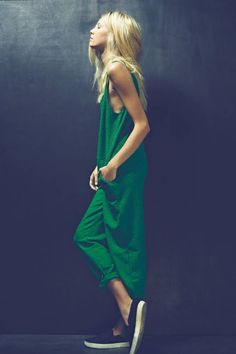 Evergreen jumpsuit.