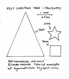 140 best felt christmas tree images on Pinterest in 2018   Christmas ...
