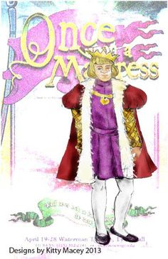 Once Upon A Mattress costume renderings